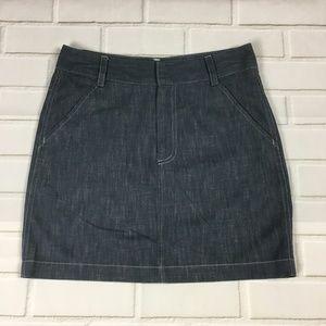 Banana Republic 2 Mini Lightwash Denim Skirt
